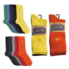 20 PAIR PACK OF TOM FRANKS COLOURED MENS SOCKS COTTON WORK OR CASUAL