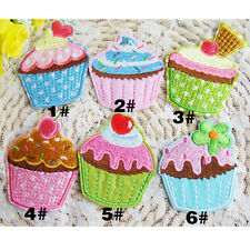 Ice Cream Embroidery Cloth Iron On Patch Sewing Motif Applique DIY X1pc