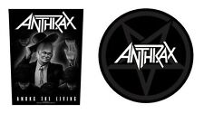 ANTHRAX - OFFICIAL GIANT SEW-ON BACKPATCH among the living / pentathrax patch