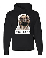 NEW! JERZEES *PUG LIFE* Hooded Sweatshirts
