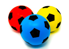 Soft Foam Indoor/Outdoor Football Soccer Ball - 20cm - Various Colours/Bundles