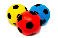 Soft Foam football Sponge Ball Size 5 Brand New  approx 6 inch Assorted Colours.