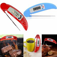 Instant Read Folding Digital LCD Cooking Food Kitchen Probe Thermometer Meat BBQ