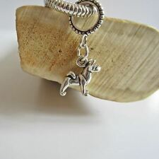 Akita Mini Sterling Silver European-Style Charm and Bracelet- Free Shipping