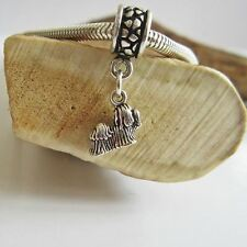 Maltese Charm and Bracelet - Mini Sterling Silver European-Style - Free Shipping