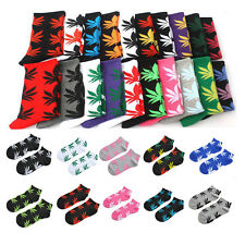 New Women Men Fashion Short Marijuana Sport Hip Hop Cotton Weed Leaf Ankle Socks