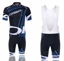Cycling Short Sleeve  jersey Jacket Shorts Outdoor Bicycle Wear BLACK+BLUE