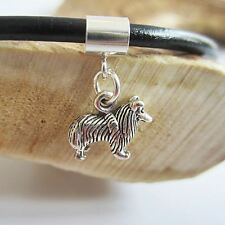 Sheltie Mini Sterling Silver European-Style Charm and Bracelet- Free Shipping