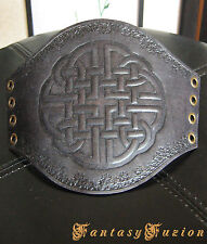 Medieval Celtic LARP Armor Celtic Knots Design Stamps Leather Cuff Bracer