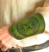 Medieval Tribal Celtic Armor Tree of Life Design Stamps Leather Cuff Bracer LARP
