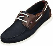 Tommy Hilfiger mens two tone nubuck leather boat shoes UK 6.5, 8