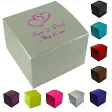 """Personalized Wedding Party Favor Candy Treat Gift Box - 3x3x2"""""""