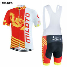 MILOTO Mens Ropa Ciclismo Short-Sleeved Suit Bike Cycling Jersey Bib Shorts Sets