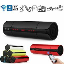 NFC LCD Portable Wireless Bluetooth Speaker Super Bass Stereo Music FM TF Player