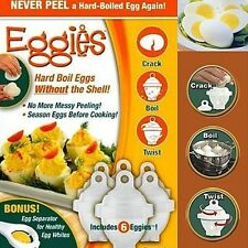 As Seen On TV Hard Boil Egg Cooker 6 Eggies CRACK / BOIL / TWIST