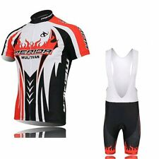 Cycling Short Sleeve  jersey Jacket Padded Shorts Outdoor Bicycle Wear