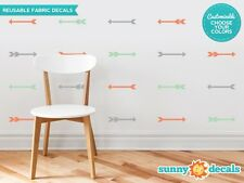 Arrow Fabric Wall Decals - Set of 24 Arrow Pattern Decals - 20 Color Options