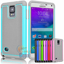 Shockproof Hybrid Rubber Matte Hard Case Cover for Samsung Galaxy Note 4 N9100