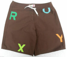 New Roxy Girls Shorts Boardshorts Age 16 Brown Boardies Surf Bikini Shorts