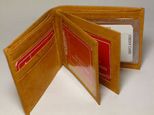 Marshal Bifold Leather Wallet-9+ Credit Card Slots+4-Page Insert-3 ID's-#1852CF