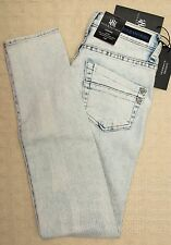 NWT ROCK & REPUBLIC Skinny Jeans ACID WASH Leggings WASHED OUT 4 Blue Fade White