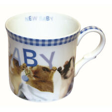 Baby Boy New Baby cute Guinea Pig Fine China Short Mug in Gift Box blue