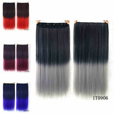 Gift Women Straight Synthetic Colorful Hair Extension Clip in Hair Extensions 47