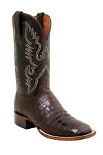Lucchese CL1006 WF TRENT Mens Barrel Brown Belly Caiman Crocodile Tail Boots
