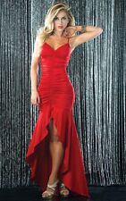Sexy Ruched V Neck Salsa Full Length Gown Dress Espiral 4230