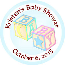 Personalised 37mm Baby Shower Stickers Labels Party Thank You Seals - L909