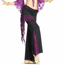 Belly Dance 08 Lace Culottes Pants Dancing Tribal Crystal Cotton Harem Costume