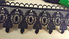 5cm Beautiful navy blue guipure venise lace trimming for crafting designing 1M