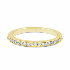 Clearance 9ct/18ct Yellow Gold Round 0.18ct Diamond Cluster Half Eternity Ring