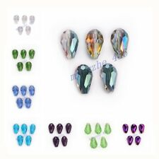 18x12mm Charms  Faceted Glass Crystal Teardrop  Bead Loose Spacer Beads Findings