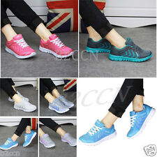 FASHION WOMEN'S RUNNING TRAINERS WALKING GYM SHOCK ABSORBING CASUAL SPORTS SHOES
