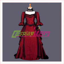 Red Gothic Lolita Dress Costume Medieval Renaissance Victorian Ball Gown Dress