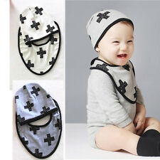 Cute Newborn Baby Infant Girl Toddler Comfy Bowknot Hospital Cap Beanie Hat Bib