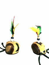New Falconry Dutch Fancy Hood with Colourful Plume Twin Eye (Sizes Available)