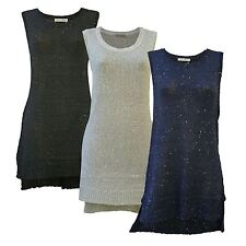 INNOCENCE Sequin Knit Long Tunic Party Top | SALE | Was £25