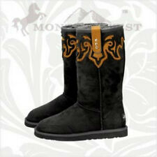 Montana West  Cowgirl Winter Boots Cowboy Ladies Western BLACK Western New Cross