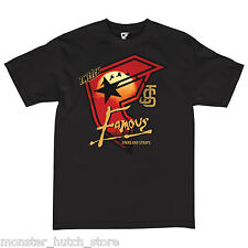 NWT FAMOUS STARS & STRAPS TWITCH APOCALYPSE Tee Shirt BLACK LARGE LIMITED RARE
