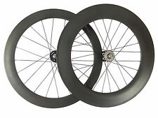 23mm Width 60+88mm Clincher Track Bicycle Wheelset Track Fixed Gear Carbon Wheel