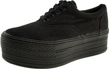 Maxstar Women's C50 5 Holes Platform Canvas Low Top Sneakers
