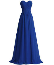 New Long Chiffon Plus Size Formal Evening Prom Gown Bridesmaid Party Ball Dress