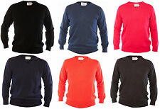 New Mens V Neck Wool Jumper Soft Merino Sweater Pullover Size S to 2XL