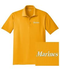"USMC United States Marine Corps - Embroidered ""Marines"" Dri-Mesh Polo Shirt"