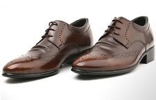 Genuine LEATHER Mens Wing Tip Formal Dress Brown Shoes Oxford KOREA Made 9054