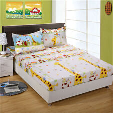 Animal Zoo New Cotton Double/Queen/King Bed Fitted Sheet or Bed Skirt Pillowcase