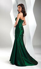 ELEGANT MERMAID PROM PARTY BRIDESMAID WEDDING DRESS TAFFETA SIZE 4 6 8 10 12