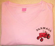 Ladies Farmall Cub Embroidered V-neck T-shirt (3 colors)